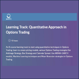 QuantInsti - Learning Track: Quantitative Approach in Options Trading