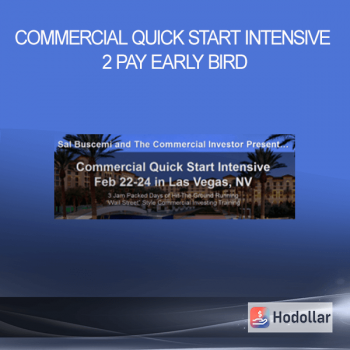 Commercial Quick Start Intensive 2 Pay – EARLY BIRD