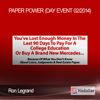 Ron Legrand - Paper Power (Day Event 02/2014)