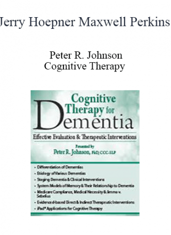 Cognitive Therapy: Interventions for Dementia