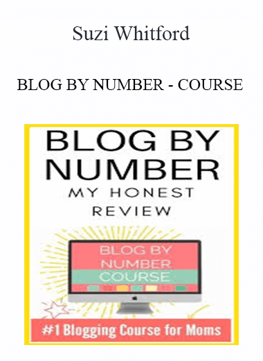 Suzi Whitford - BLOG BY NUMBER - COURSE